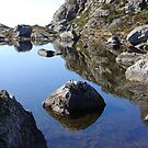 Reflections in a little lake by Annbjørg  Næss