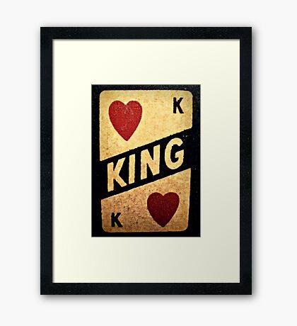 king of hearts: vintage poker machine Framed Print