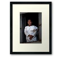 Buddhist nun Framed Print