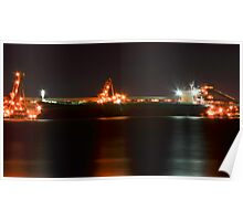 Night Time Coal Loading Poster