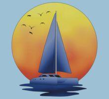 Catamaran Sailboat by Packrat