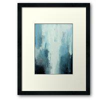Water Fall in Blue Framed Print