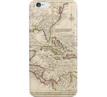 Map of the West Indies by Emanuel Bowen (1752) iPhone Case/Skin