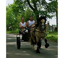 Racing On Flashing Lane- Appleby Fair. Photographic Print