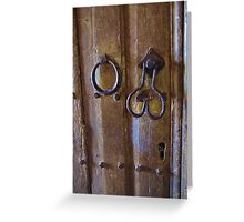 Church Door, St. Petrocs Greeting Card