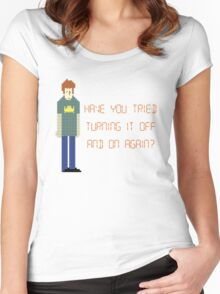 The IT Crowd – Have You Tried…? Women's Fitted Scoop T-Shirt
