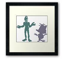 """I dunno"" - Oddworld Abe & Munch Framed Print"