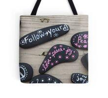 Feel Good Painted Rocks Tote Bag