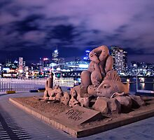 SAND SCULPTURES AT THE DOCKLANDS by ArtGatz