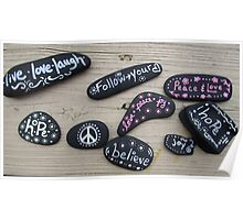 Feel Good Painted Rocks Poster