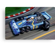 Tyrell 6 Wheel Formula One Canvas Print