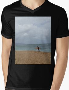 Surfer at pipeline - Oahu, Hawaii Mens V-Neck T-Shirt