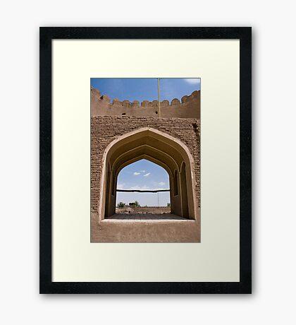 Ancient castle in Rayen, Iran. Framed Print