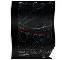 USGS Topo Map Oregon Hat Rock 20110912 TM Inverted Poster