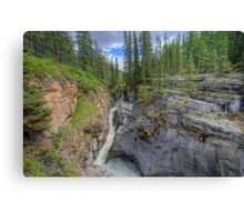 Maligne Canyon and River  Canvas Print