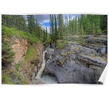 Maligne Canyon and River  Poster