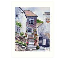 Polperro cottage Art Print