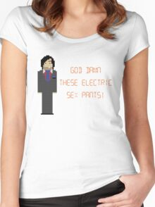 The IT Crowd – God Damn These Electric Sex Pants! Women's Fitted Scoop T-Shirt
