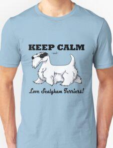 Keep Calm, Love Sealyhams! Unisex T-Shirt