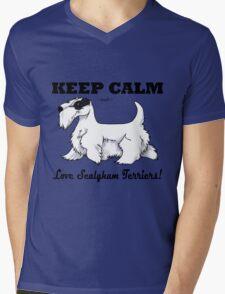 Keep Calm, Love Sealyhams! Mens V-Neck T-Shirt