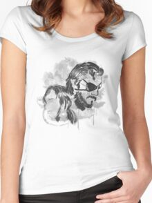 Metal Gear Graffitti Women's Fitted Scoop T-Shirt