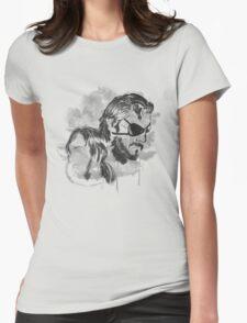 Metal Gear Graffitti Womens Fitted T-Shirt