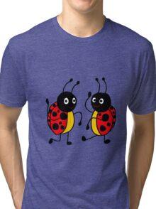 Funky Dancing Ladybugs Tri-blend T-Shirt