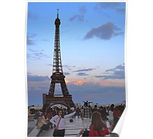 Sunset from Trocadero Plaza Poster
