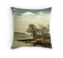 Where the river meets the sea Throw Pillow