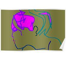 female head -(200711b)- digital artwork/ms paint Poster