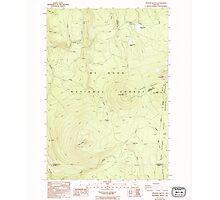 USGS Topo Map Oregon Pinhead Buttes 281101 1986 24000 Photographic Print