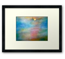 """A Mist Crept Along the Banks of the River""... Framed Print"