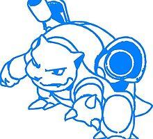blastoise pokemon blue by GOD87