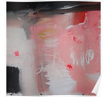 Pink painting, pink abstract, red pink paintingg Poster