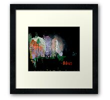 the darkened woods  Framed Print