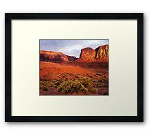 Sunset, Monument valley Framed Print
