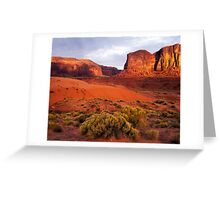Sunset, Monument valley Greeting Card