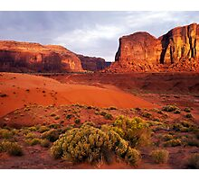 Sunset, Monument valley Photographic Print