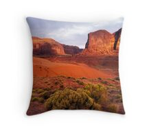 Sunset, Monument valley Throw Pillow