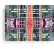 wire matrix collage II Canvas Print