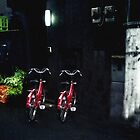 Red Bikes Tokyo Japan by Wayne King