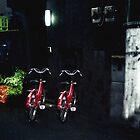 Red Bikes Tokyo Japan by Wayne King