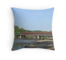 Harpersfield Covered Bridge Throw Pillow