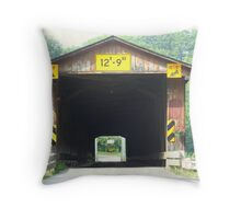 The Light at the End of the Bridge Throw Pillow