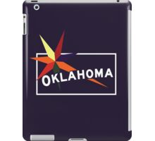 Oklahoma Welcome Road Sign Vintage 80s, USA iPad Case/Skin