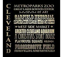 Cleveland Ohio Famous Landmarks Photographic Print