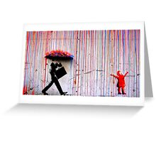 Rain Banksy Greeting Card