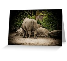 the tiny taile of rhinoceros Greeting Card