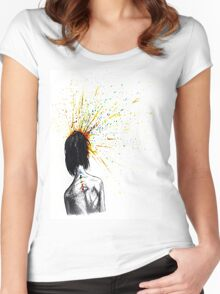 Exploding Chakras Women's Fitted Scoop T-Shirt