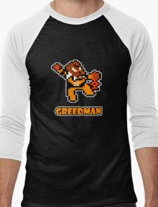 Greedman Men's Baseball ¾ T-Shirt